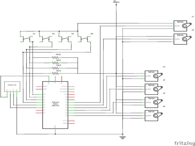 ロボットモーション製作用回路