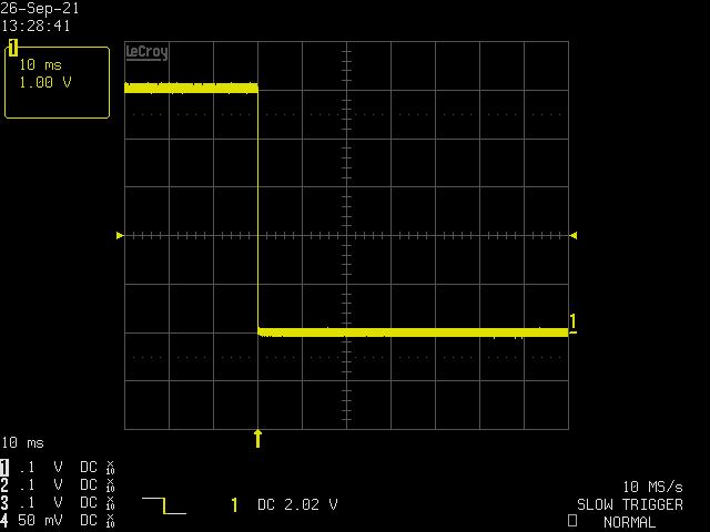 回路A、10ms/div、立ち下がりエッジ