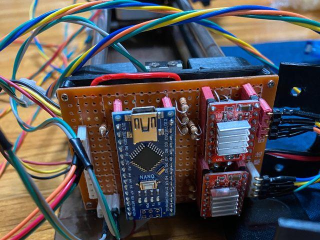 回路基板 Arduino Nanoとモータードライバ