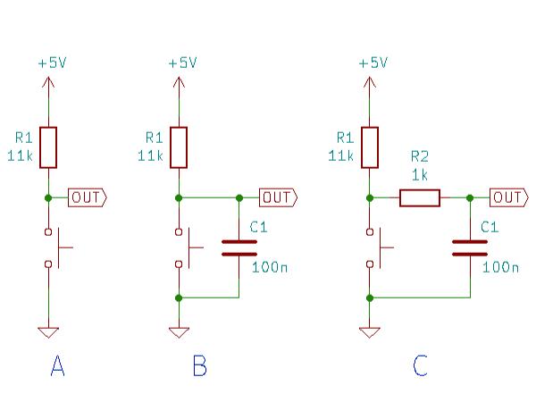 チャタリング実験回路