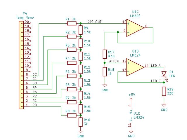 オペアンプを用いて電流を制御する