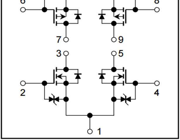データシート抜粋:ブリッジ部等価回路