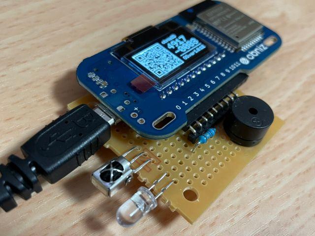 obniz:赤外線受信モジュール、赤外線LED、ブザー