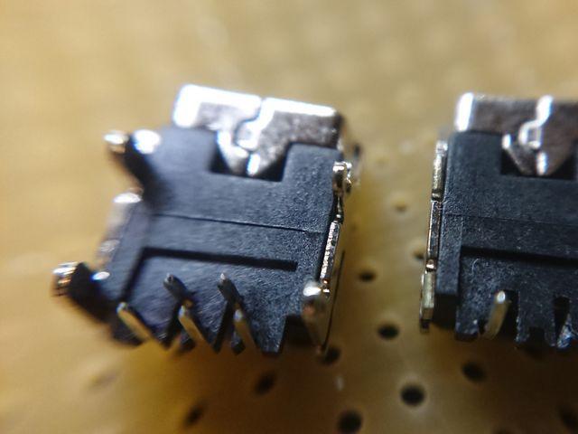 USBコネクタの処理